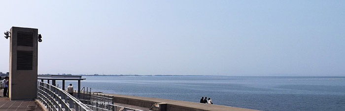 滑川の海の様子